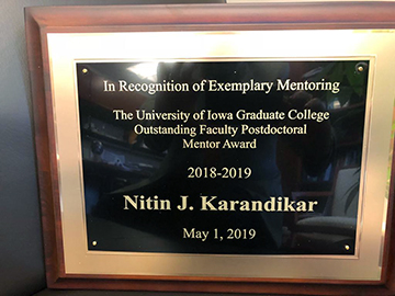 Post-Doc Mentor Award